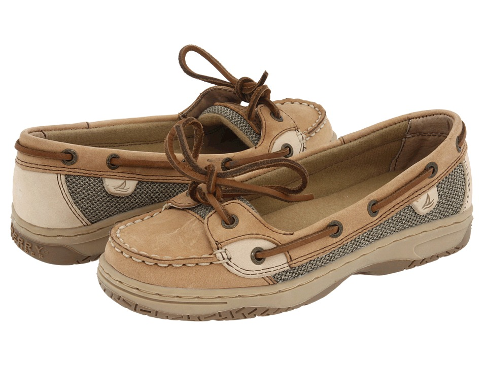 Sperry Top-Sider Kids - Angelfish (Little Kid/Big Kid) (Linen/Oat Leather) Girls Shoes