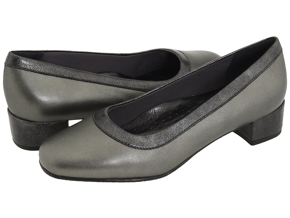 Trotters - Dora (Pewter Soft Kid Metallic/Metallic) Women
