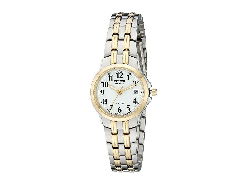 Citizen Watches - EW1544-53A Eco-Drive Silhouette Sport Two-Tone Watch (White/Two Tone Stainless Steel) Diving Watches