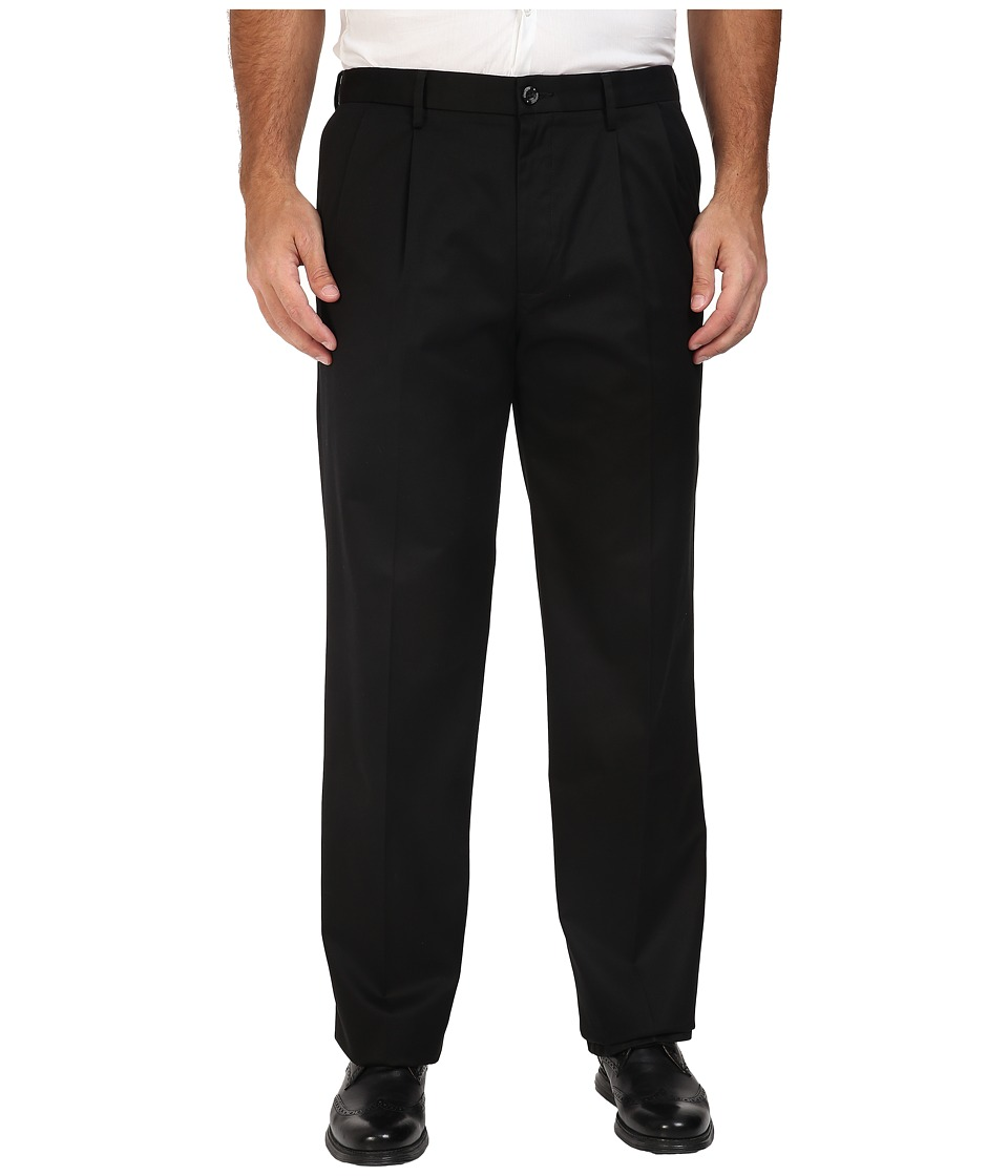Dockers Men's - Big Tall Signature Khaki D3 Classic Fit Pleated (Black) Men's Clothing