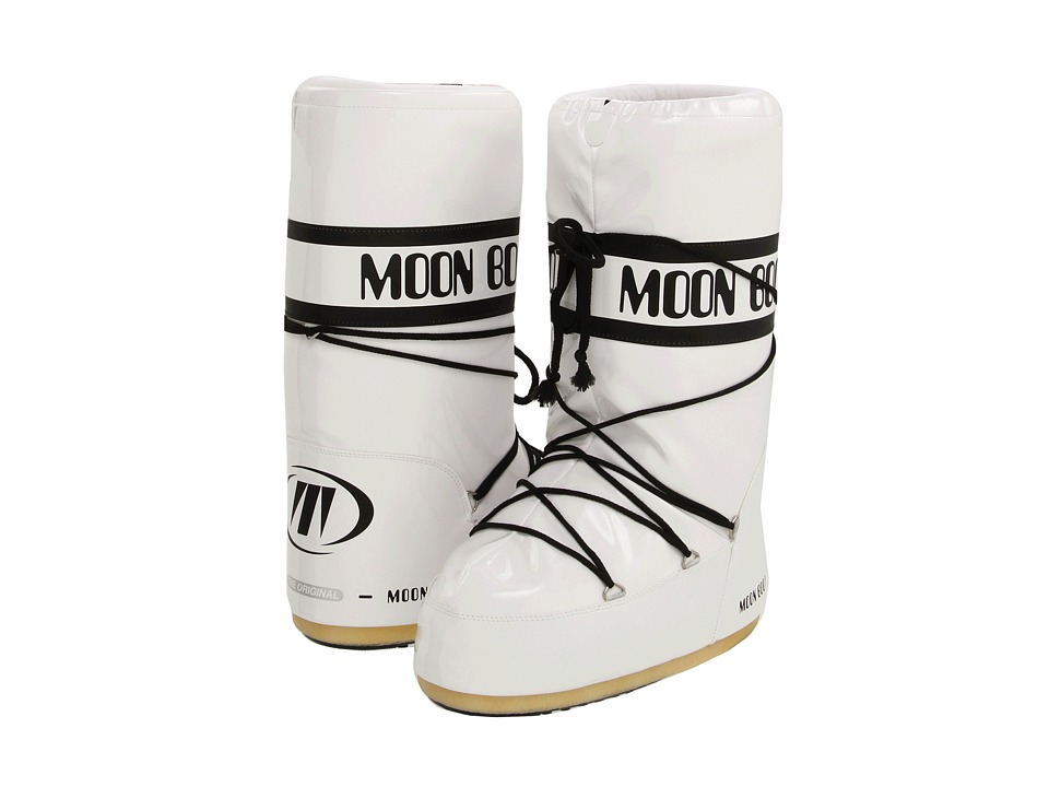 Tecnica - Moon Boot Vinyl (White/Black) Cold Weather Boots