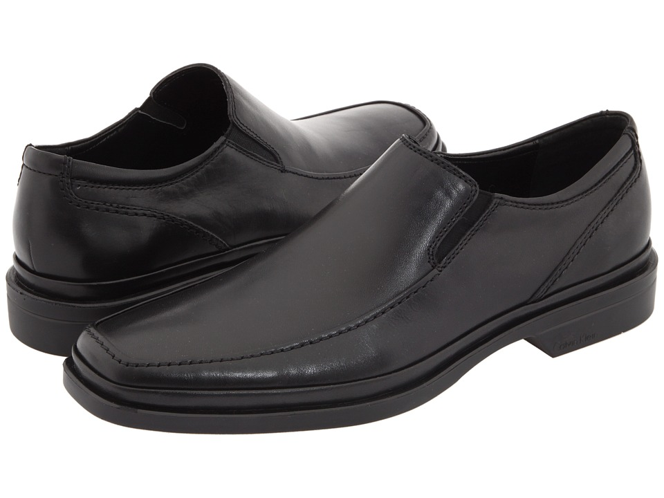 Calvin Klein - Babe (Black Dress Calf) Men's Dress Flat Shoes