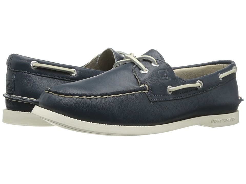 Sperry Top-Sider - A/O 2 Eye (Navy Deerskin) Women's Slip on Shoes