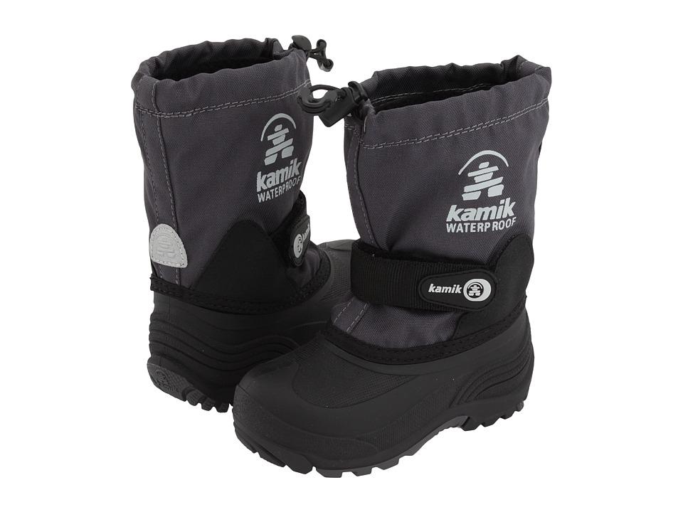 Kamik Kids - Waterbug Wide (Toddler/Little Kid/Big Kid) (Charcoal) Boys Shoes