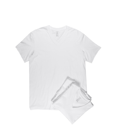Calvin Klein Underwear - Classic S/S V-Neck 3-Pack M9065 (White) Men