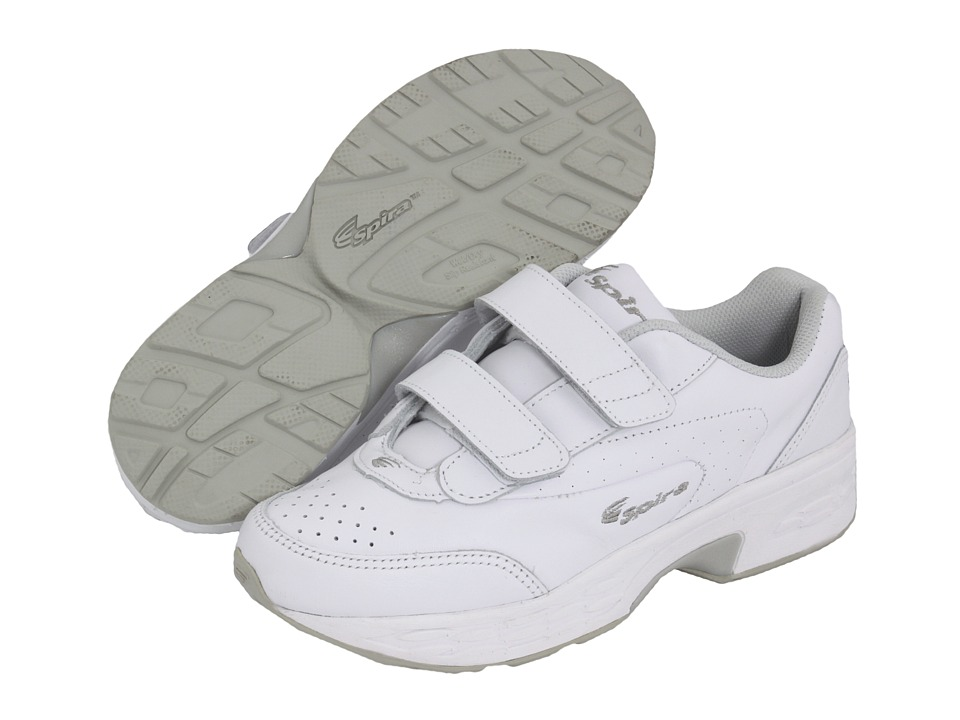Spira - Classic Leather EZ Strap (White/White) Women's Walking Shoes