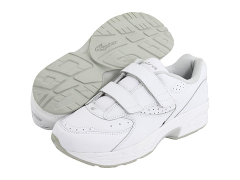 Spira - Classic Leather EZ Strap (White/White) Men's Walking Shoes