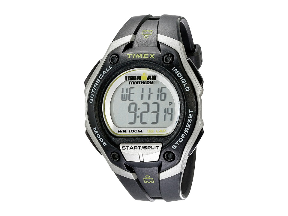 Timex - Ironman(r) 30 Lap Mega (Black/Silver/Green Resin) Sport Watches