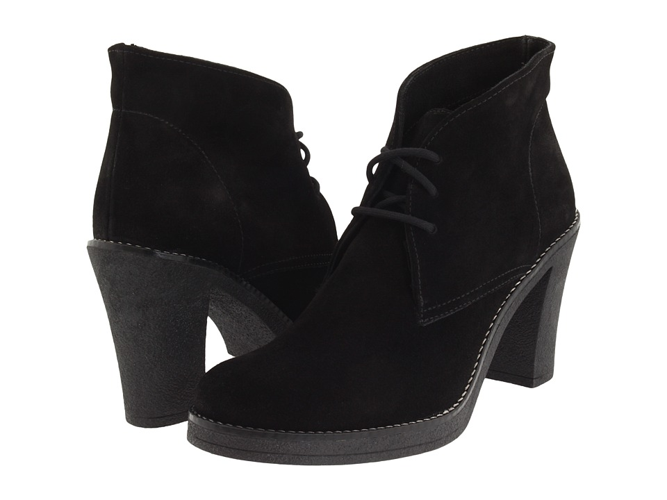 La Canadienne - Korey (Black Suede) Women's Lace-up Boots