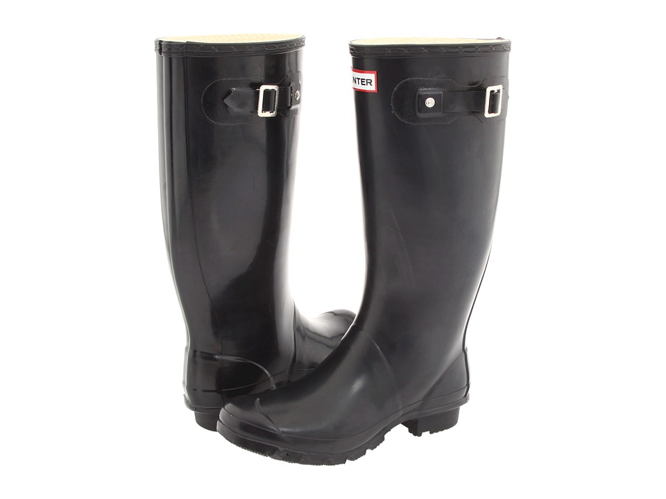 Hunter - Huntress Gloss (Black) Women's Rain Boots