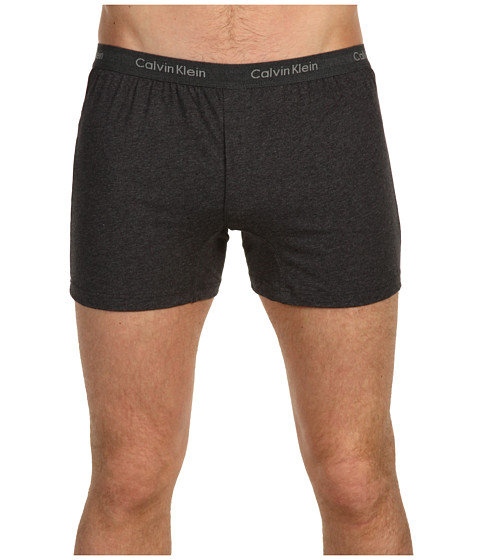 Calvin Klein Underwear - Bar Matrix Slim Fit Knit Boxer (Charcoal Heather) Men's Underwear