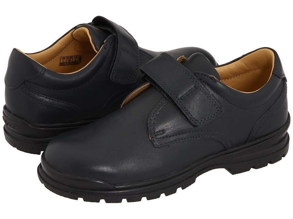 Geox Kids - Junior William (Little Kid) (Navy) Boys Shoes