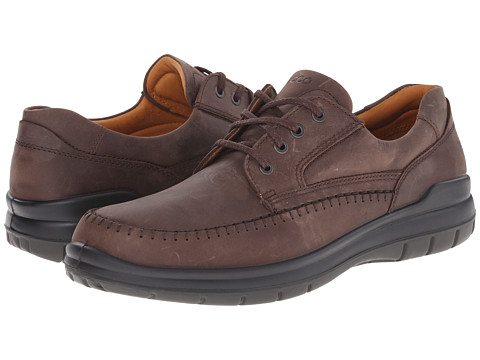 ECCO - SeaWalker Tie (Coffee Leather) Men's Lace up casual Shoes
