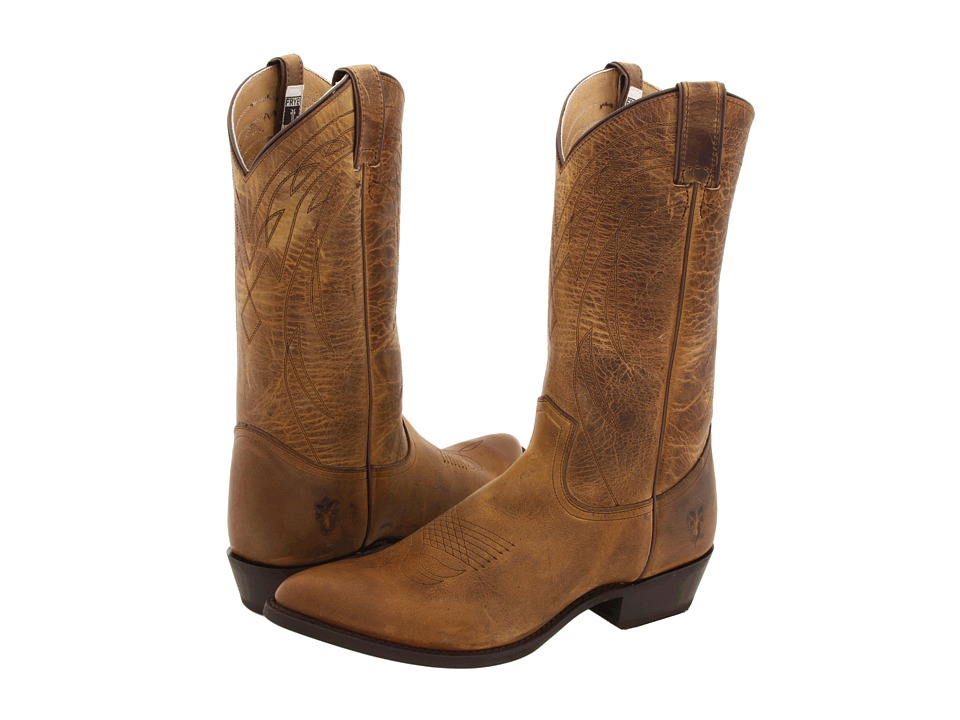 Frye Billy Pull On (Dark Brown Old Town) Cowboy Boots