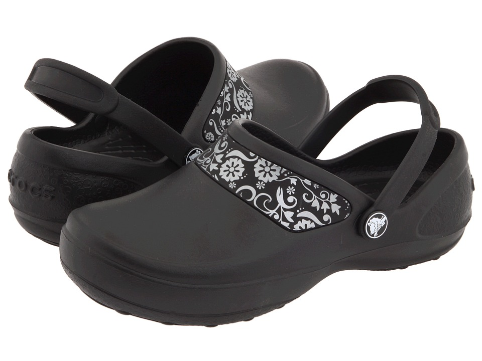 Crocs - Mercy Work (Black/Silver) Women's Clog Shoes