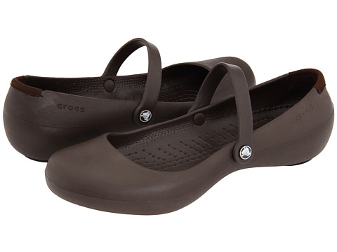 Crocs - Alice Work (Espresso) Women's Maryjane Shoes