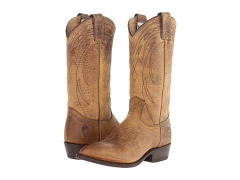 Frye - Billy Pull On (Dark Brown Old Town) Cowboy Boots