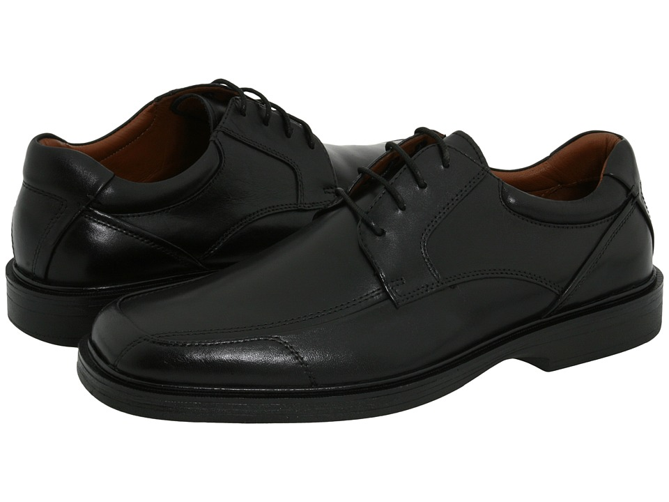 Johnston & Murphy - XC4(r) Waterproof Pattison Lace-Up (Black Full-Grain Waterproof Leather) Men's Lace Up Moc Toe Shoes