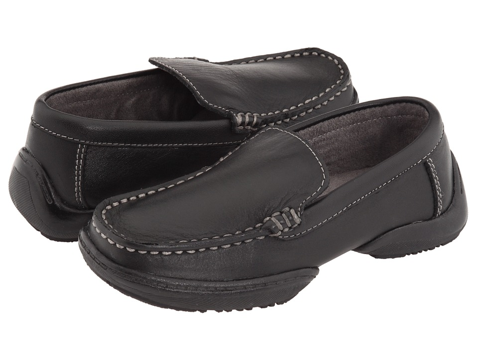 Kenneth Cole Reaction Kids - Driving Dime 2 (Toddler/Little Kid) (Black Leather) Boy's Shoes