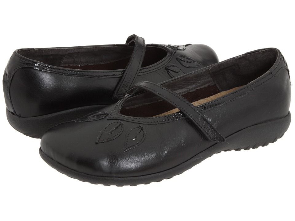 Naot Footwear - Nau Mai (Black Gloss Leather/Black Patent) Women's Maryjane Shoes