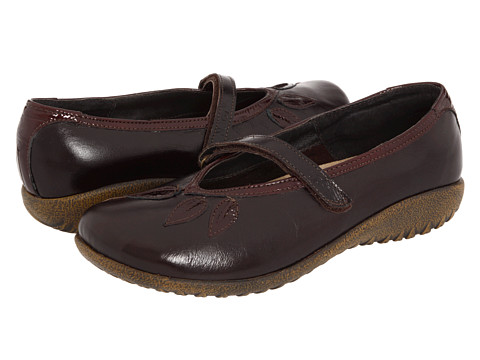 Naot Footwear - Nau Mai (Espresso Leather/Wine Patent Leather) Women's Maryjane Shoes