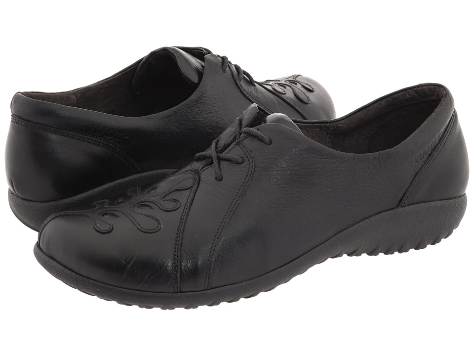 Naot Footwear Hui (Black Gloss Leather/Black Raven Leather) Women