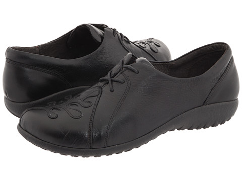 Naot Footwear - Hui (Black Gloss Leather/Black Raven Leather) Women