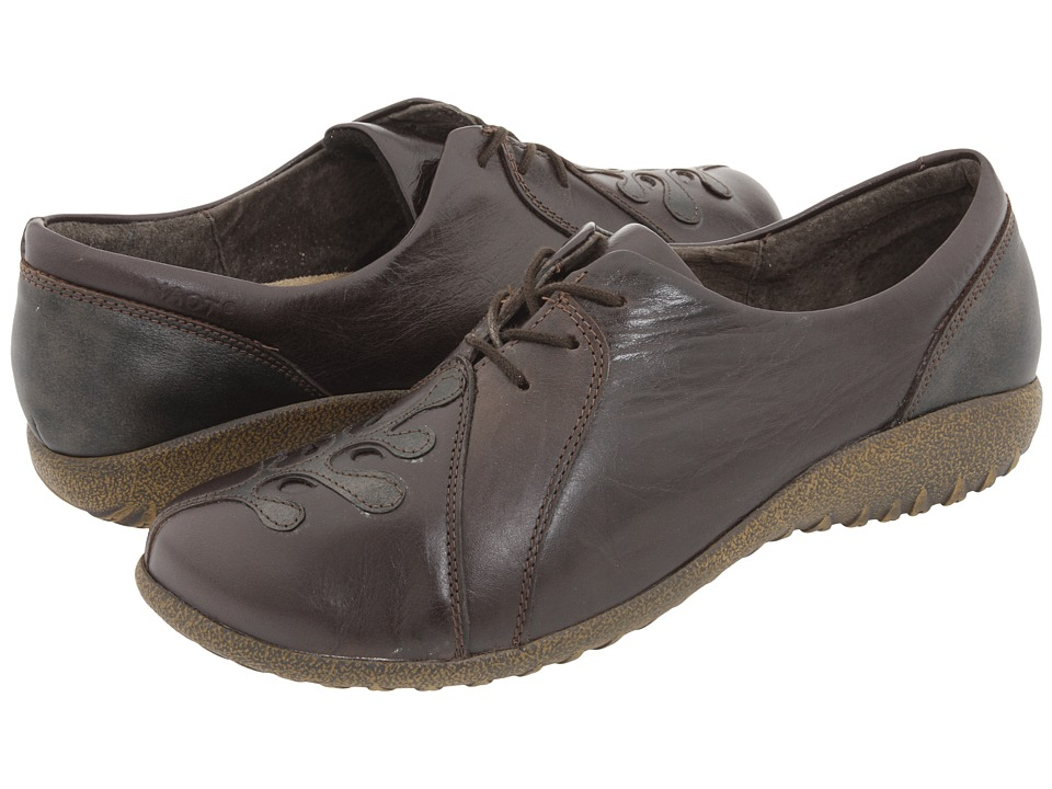 Naot Footwear - Hui (Espresso Leather/Black Pearl Leather) Women