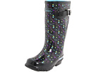 SKECHERS KIDS - Rainboot w/ Paint Splatter (Toddler/Youth) (Black Rubber/Multi Trim) - Footwear