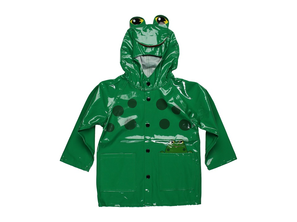 Western Chief Kids - Frog Raincoat (Toddler/Little Kids) (Green) Boy's Jacket