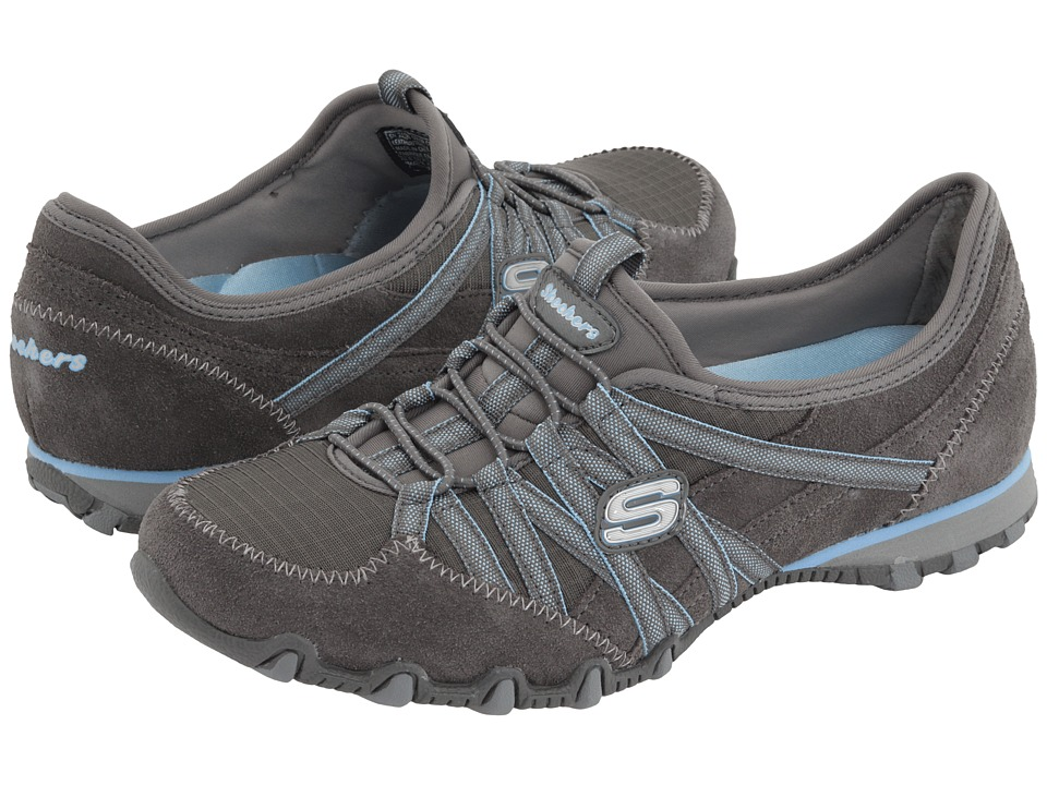 SKECHERS - Bikers-Verified (Grey) Women's Shoes