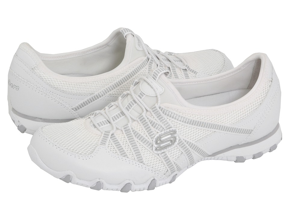 SKECHERS - Bikers - Hot Ticket (White) Women