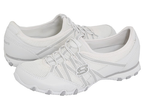 SKECHERS - Bikers - Hot Ticket (White) Women's Shoes