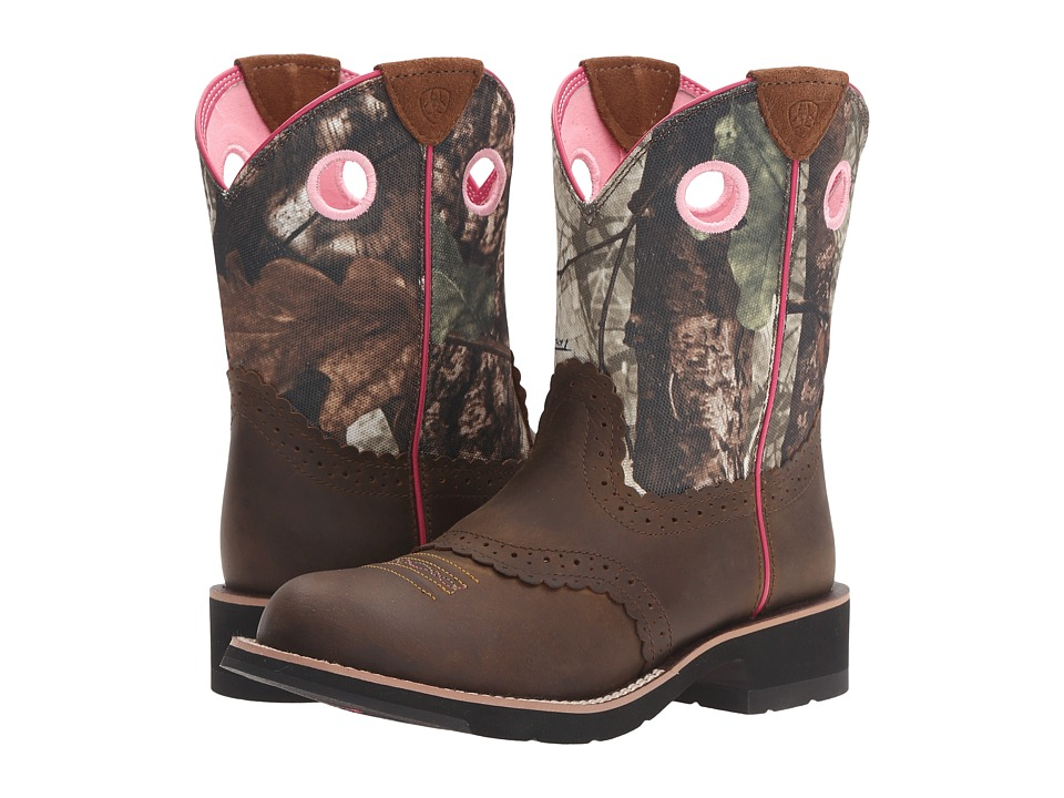 Ariat Fatbaby Cowgirl (Distressed Brown/Camo) Cowboy Boots