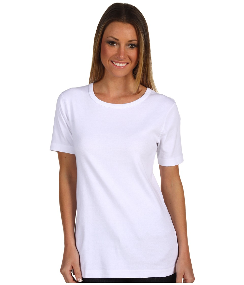 Red Dot - Cotton Knits S/S Crew Neck (White) Women