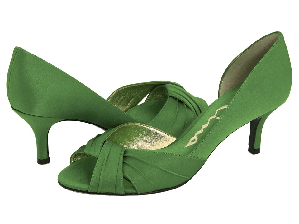 Nina - Culver (Apple Green Satin) Women's Bridal Shoes
