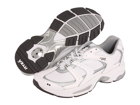 Ryka - Endure XT 2 (White/Chrome Silver/Metallic Steel Grey) Women's Cross Training Shoes