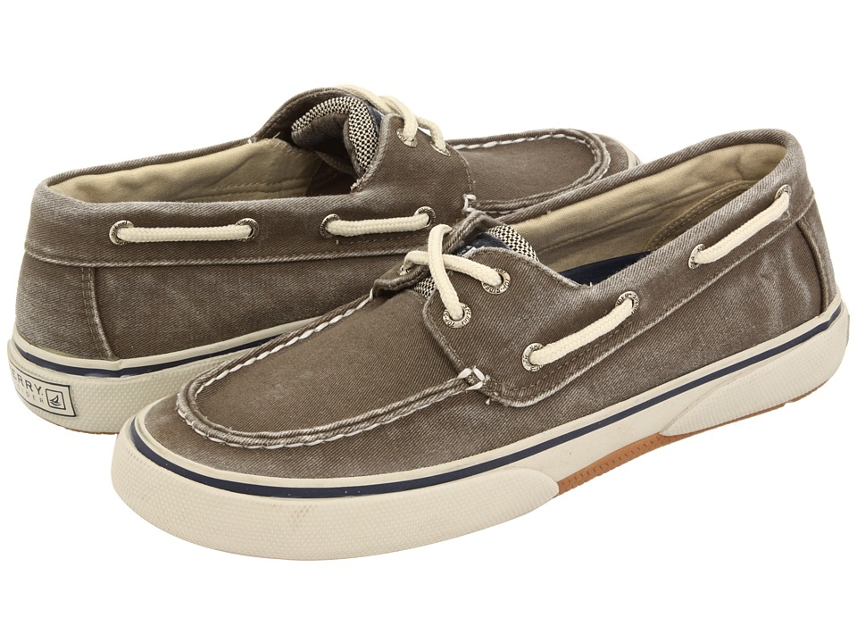 Sperry - Halyard 2-Eye (Chocolate/Honey) Men's Lace Up Moc Toe Shoes