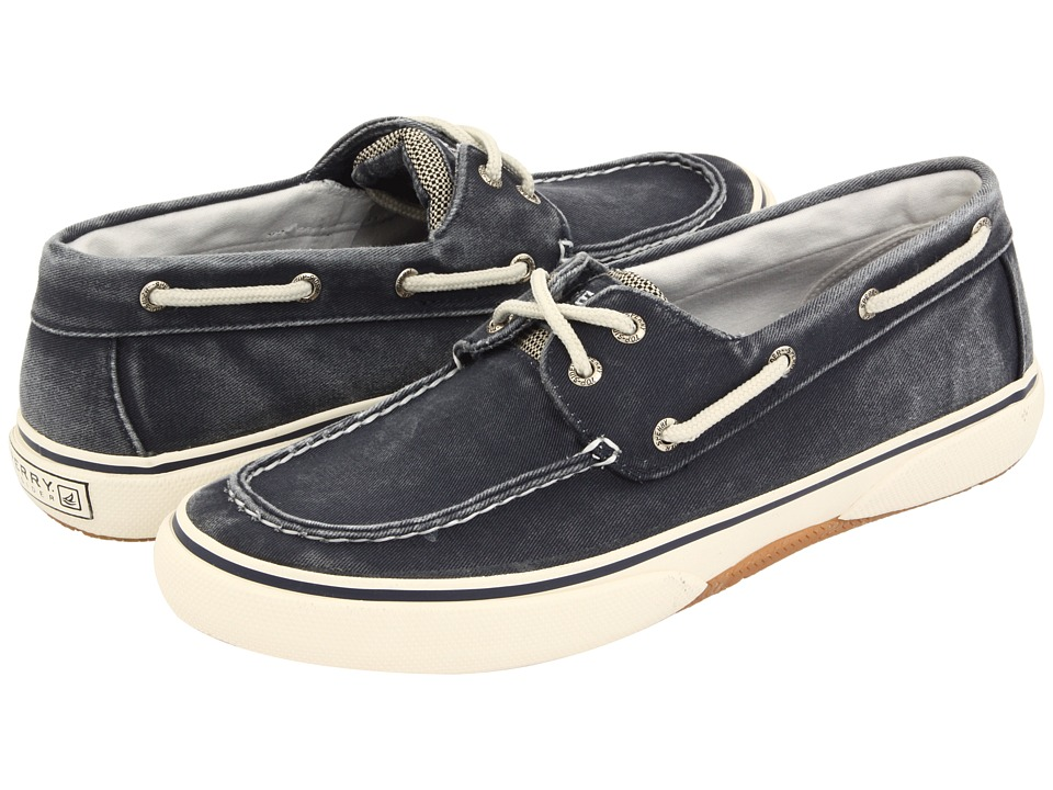 Sperry - Halyard 2-Eye (Navy/Honey) Men's Lace Up Moc Toe Shoes