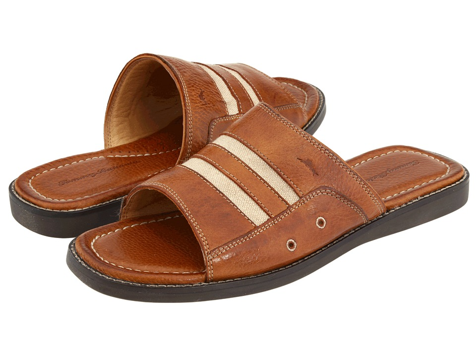 Tommy Bahama - Anchors Away Slide (Brown Leather) Men's Slide Shoes