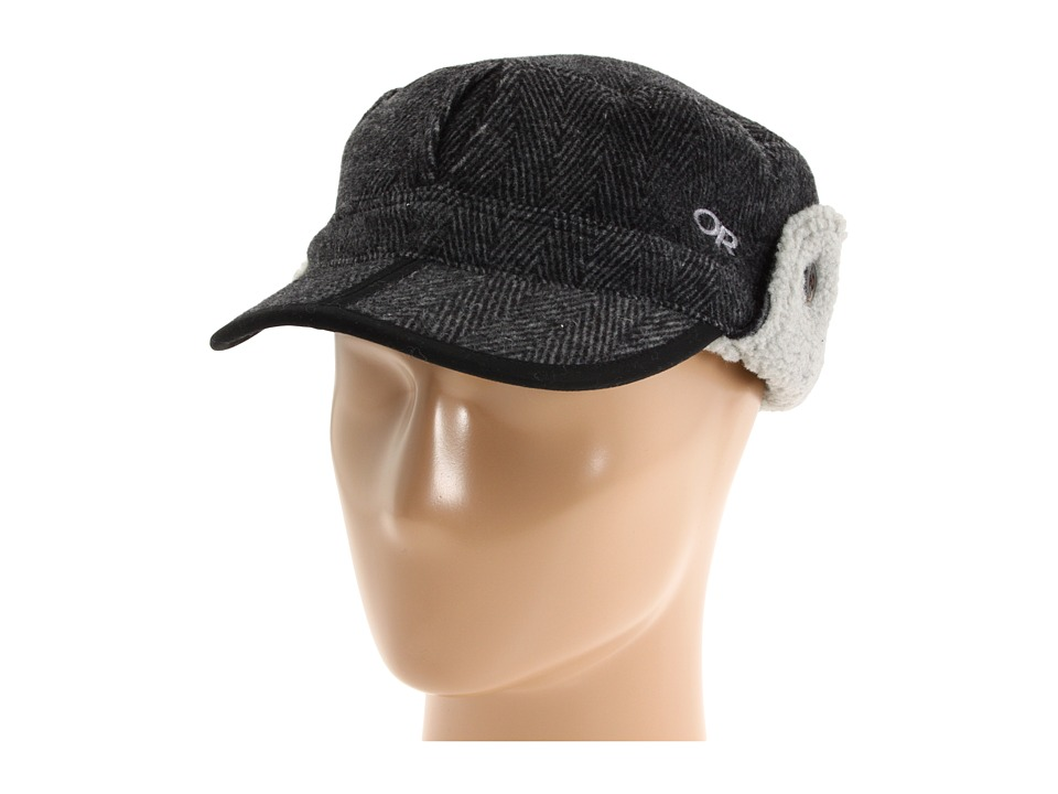 Outdoor Research - Yukon Cap (Charcoal/Herringbone) Cold Weather Hats