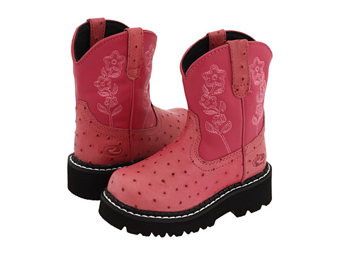 Roper Kids - Chunks (Toddler/Little Kid) (Bubblegum Pink Ostrich) Cowboy Boots
