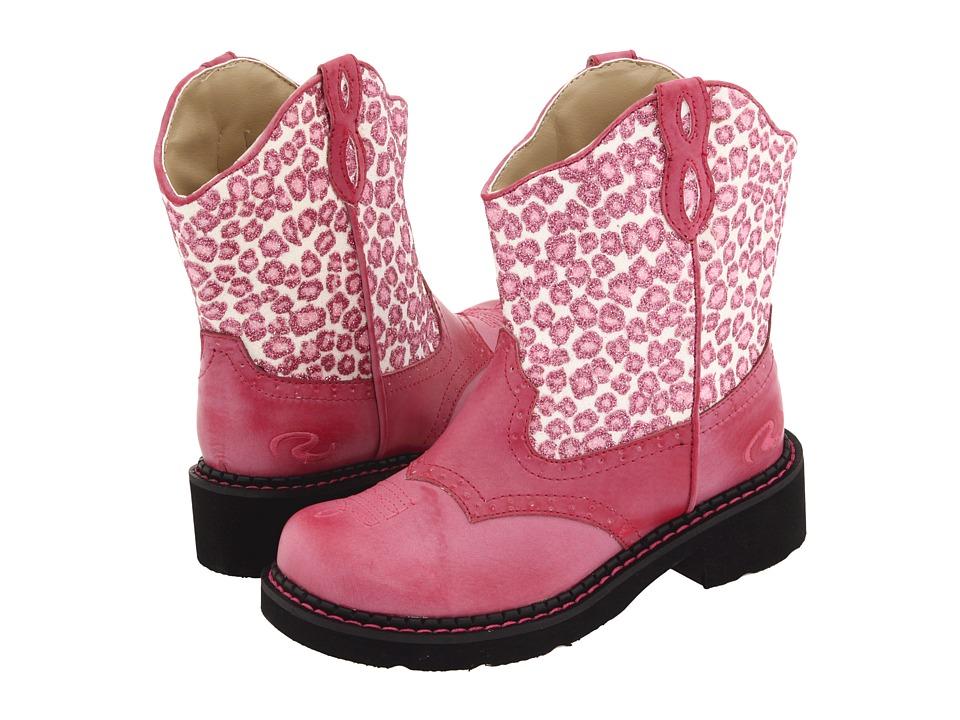 Roper Kids - Glitter Chunks (Toddler/Little Kid) (Pink Glitter Leopard Print) Cowboy Boots