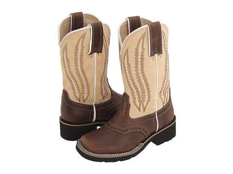 Roper Kids - Square Toe Cowboy Boots (Toddler/Little Kid) (Brown/Tan) Cowboy Boots