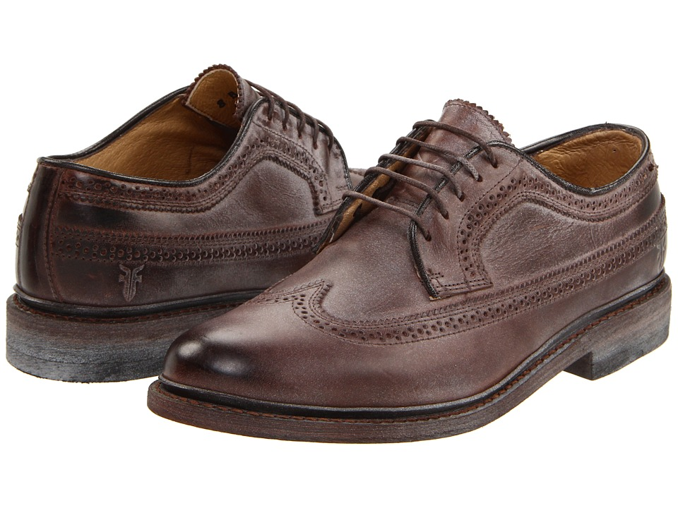 Frye - James Wingtip (Dark Brown) Women's Lace up casual Shoes