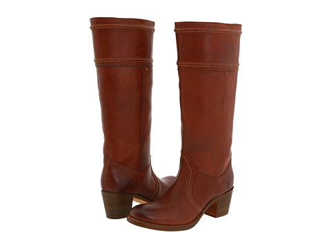 Frye - Jane 14L Stitch Extended (Redwood Extended Smooth Full Grain) Women's Pull-on Boots