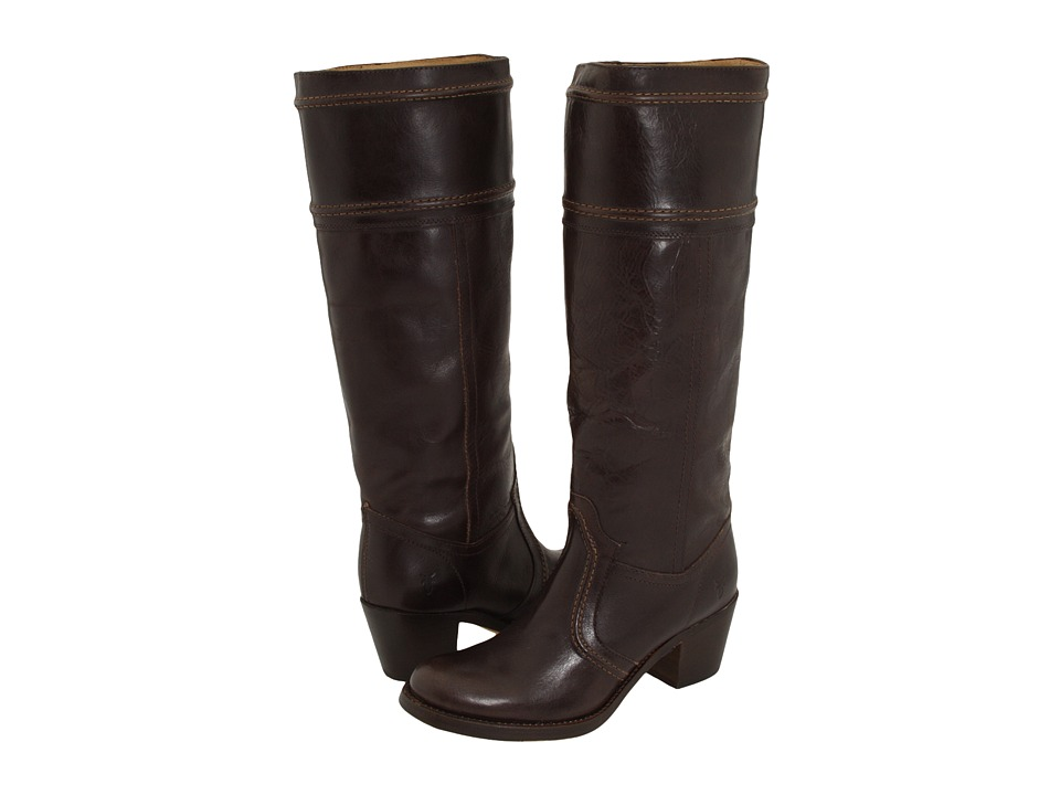 Frye - Jane 14L Stitch Extended (Dark Brown Extended Smooth Full Grain) Women's Pull-on Boots