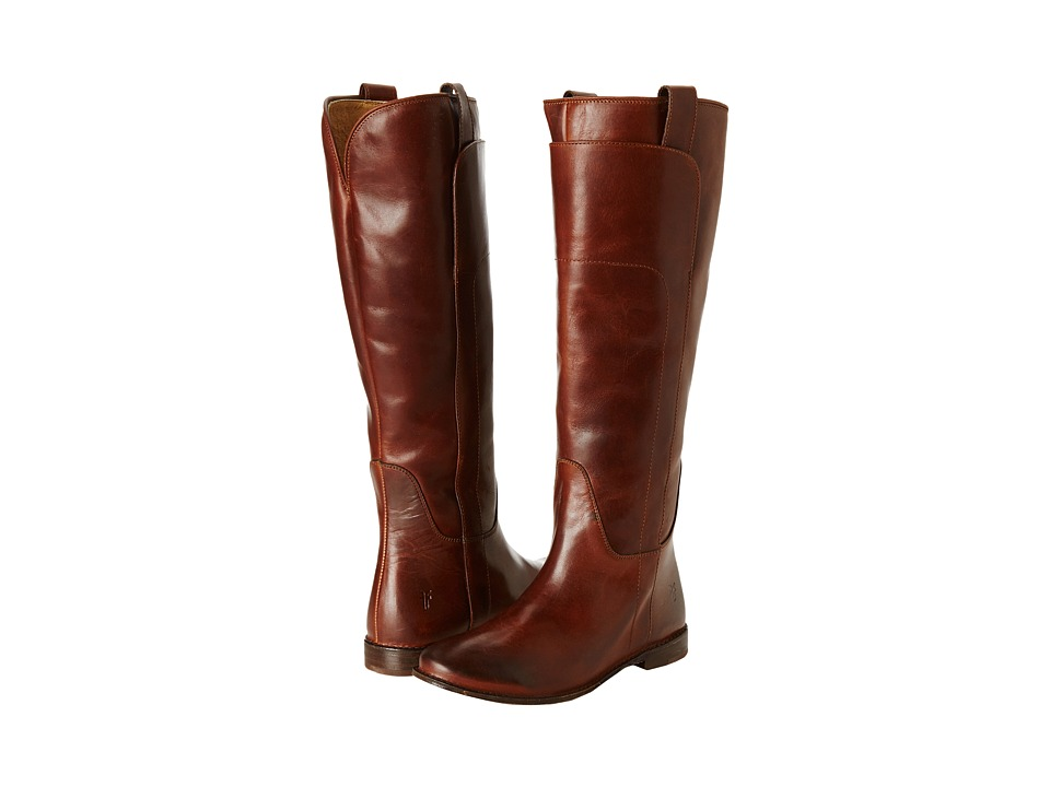Frye - Paige Tall Riding (Cognac Calf Shine) Women's Pull-on Boots
