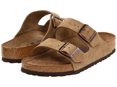 Birkenstock - Arizona Soft Footbed - Suede (Unisex) (Jasper Suede) Sandals