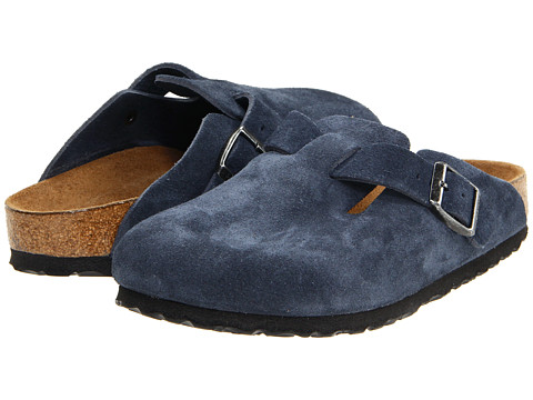 Birkenstock - Boston Soft Footbed (Unisex) (Denim Suede) Clog Shoes